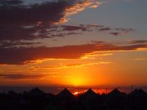 campground Por do sol imagens de stock royalty free