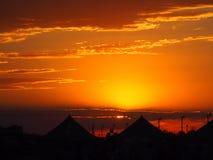 campground Por do sol fotos de stock