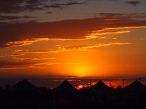 campground Por do sol foto de stock royalty free