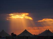 campground Por do sol imagem de stock royalty free