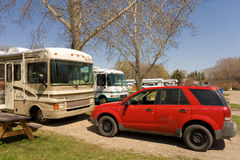 A campground in Saskatchewan Stock Images