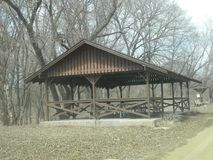 Campground Shelter At Rural Park Royalty Free Stock Photo