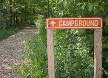 Campground Sign Royalty Free Stock Photos