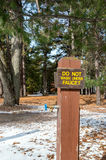 Campground sign Royalty Free Stock Photography
