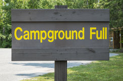 Campground Sign Royalty Free Stock Photo