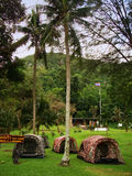 Campground at Wua Talab beach, Ang Thong National Marine Park, T Stock Images