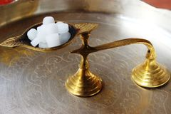 Camphor aarti holder Royalty Free Stock Photography