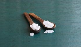 Camphor and Edible Camphor on a Wooden Board Royalty Free Stock Image