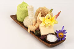 Camphor Mix ginger handmade soaps and deodorant, Rash and fragrance. Stock Images