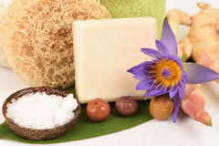 Camphor Mix ginger handmade soaps and deodorant, Rash and fragrance. Royalty Free Stock Photography