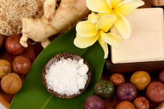 Camphor Mix ginger handmade soaps and deodorant, Rash and fragrance. Royalty Free Stock Image