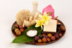 Camphor Mix ginger handmade soaps and deodorant, Rash and fragrance. Stock Photography