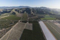 Campi aerei agricoli dell'azienda agricola di California del sud Fotografie Stock