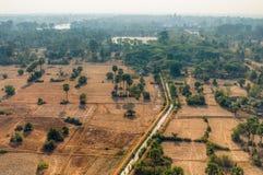 Campi cambogiani da sopra fotografia stock