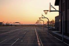 Campi da pallacanestro del banco Fotografia Stock