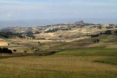 Campi del raccolto e di agricoltura in Etiopia Immagine Stock Libera da Diritti