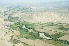 Campi di agricoltura della valle di Nasca Fotografia Stock