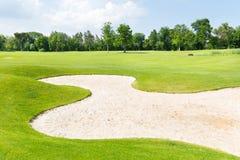 Campi di golf Fotografie Stock Libere da Diritti