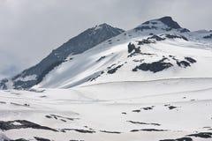 Campi di neve del ghiacciaio di Hintertux, Austria Immagini Stock Libere da Diritti