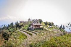 Campi di risaia e della località di soggiorno Fotografia Stock