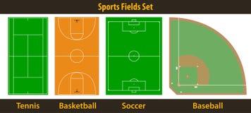 Campi di sport illustrazione di stock
