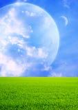 Campi di un pianeta lontano immagini stock libere da diritti
