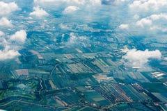 campi e foto delle foreste dall'aeroplano Immagine Stock Libera da Diritti