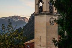 Campi kyrka i Trentino - Italien Arkivfoton