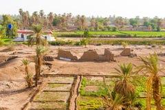 Campi rurali vicino a Dongola nel Sudan Fotografia Stock Libera da Diritti
