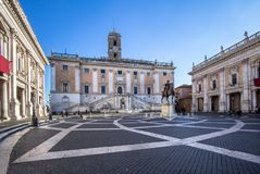 Campidoglio, Capitoline小山,罗马 库存照片