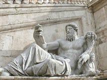 Campidoglio. Ancient statue. Rome. Italy. Ancient roman statue on Campidoglio square. Rome Royalty Free Stock Image