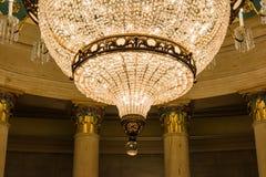 Campidoglio degli Stati Uniti che integra architettura sotterranea del candeliere della cripta Fotografie Stock