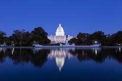 Campidoglio degli Stati Uniti nel crepuscolo Fotografia Stock Libera da Diritti