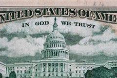 Campidoglio degli Stati Uniti rappresentato sulla fattura di 50 USD Immagini Stock