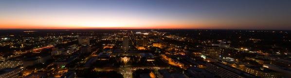 Campidoglio dello stato di Florida alla vista aerea crepuscolare Immagine Stock