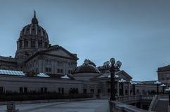 Campidoglio di Harrisburg in bianco e nero Immagini Stock Libere da Diritti
