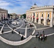 campidoglio di piazza rome Fotografering för Bildbyråer