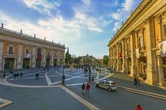 campidoglio di piazza rome Royaltyfri Bild