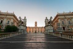 Campidoglio fyrkant i Rome, Italien royaltyfri fotografi
