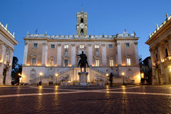Campidoglio in the night Royalty Free Stock Image