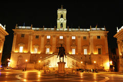 Campidoglio by night Stock Photography