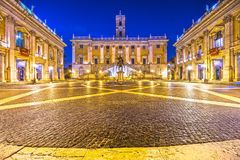 Campidoglio, Rome, Italy. The Campidoglio at night, Capitoline Hill, Rome, Italy Royalty Free Stock Photography