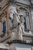 Campidoglio square (Piazza del Campidoglio) in Rome, Italy Royalty Free Stock Photography