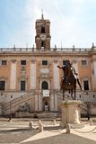 The Campidoglio square in Rome, Italy Stock Image