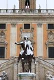 Campidoglio square under snow stock image