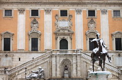 Campidoglio square under snow Stock Photography