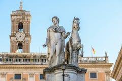 Campidogliovierkant in Rome Royalty-vrije Stock Afbeelding