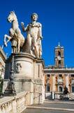 Campidogliovierkant, Rome, Italië Stock Foto's