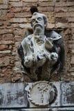 Campiello de la Scuola, sculpture, Venice city, Italy Royalty Free Stock Photo