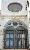 Campiello De Los angeles Scuola, architektoniczni okno, Wenecja miasto, Włochy Obrazy Royalty Free